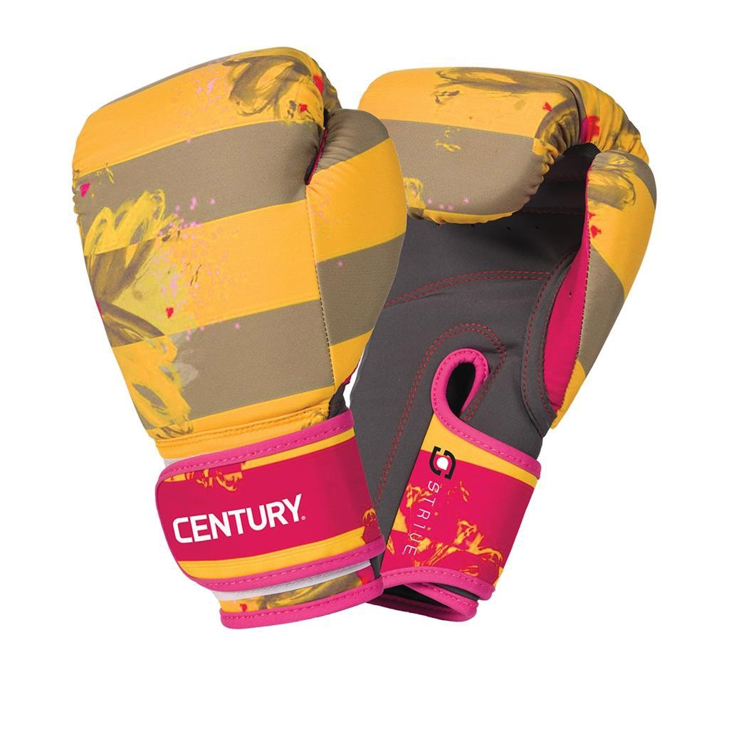 Century Strive Washable Boxing Glove - Floral Negative Yellow