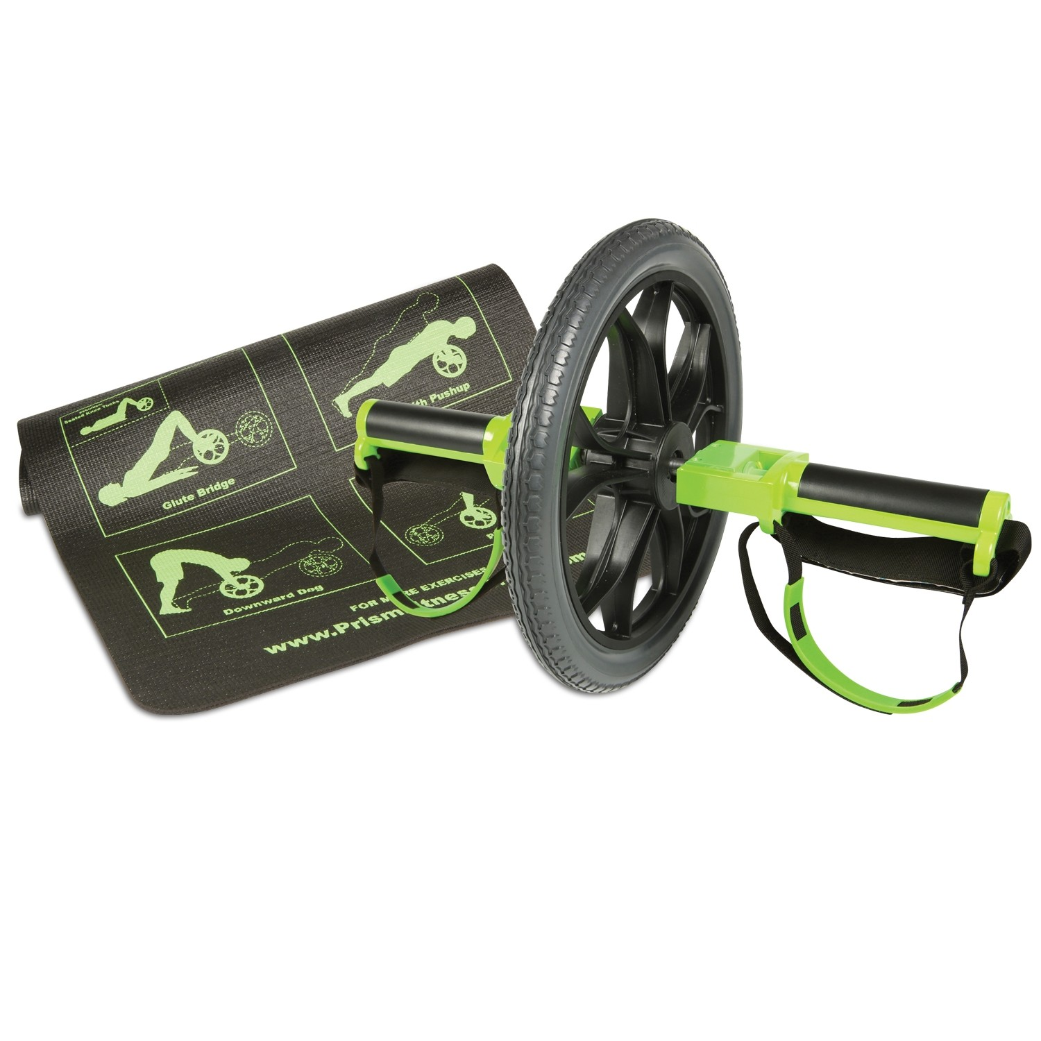 Prism Smart Self-Guided Smart Core Ab Wheel with Mat