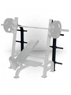 ST Optional Weight Storage - Black fits Olympic Flat, Incline and Decline Benches w/Gun Racks
