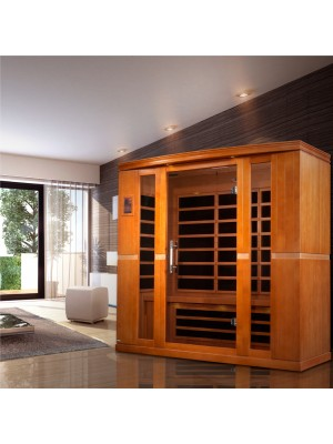 "Dynamic ""Bergamo"" 4-person Low EMF Far Infrared Sauna"