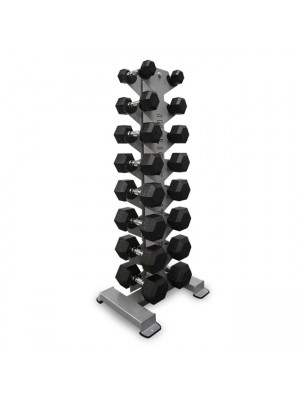 Inflight 5008 8-Pair Vertical Dumbbell Rack W/ Weights