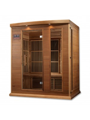 Maxxus 3 Per Low EMF FAR Infrared Carbon Canadian Red Cedar Sauna