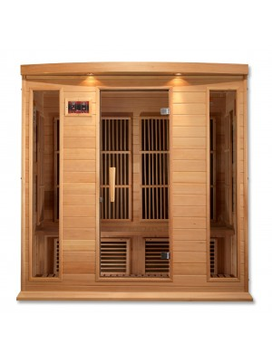 Maxxus 4 Per Low EMF FAR Infrared Carbon Canadian Hemlock Sauna