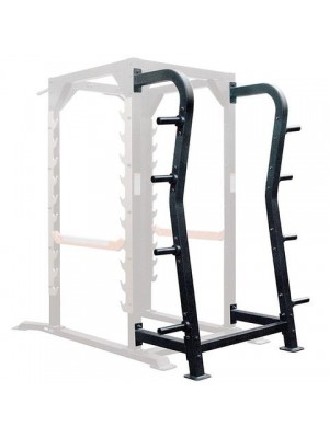 Iron Series Power Cage & Plate Rack Option Xtreme Monkey IRON Plate Rack Option Add On (Element IRON 7009OPT) (Default)